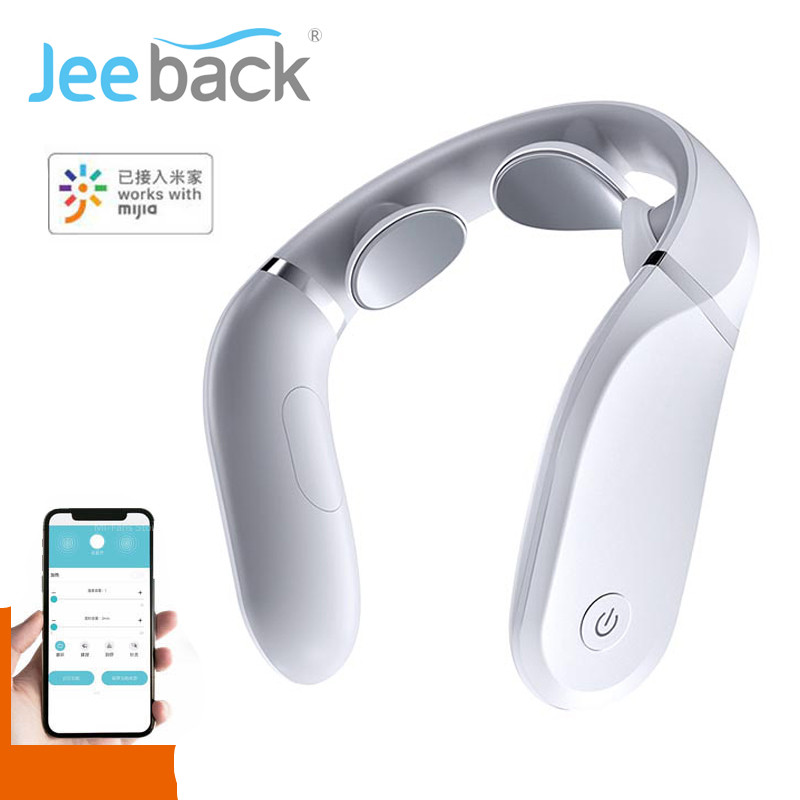 Xiaomi Cervical Massager G2 TENS Pulse Protect The Neck Only 190g Double Effect Hot Compress L-Shaped Wear Work With Mijia App