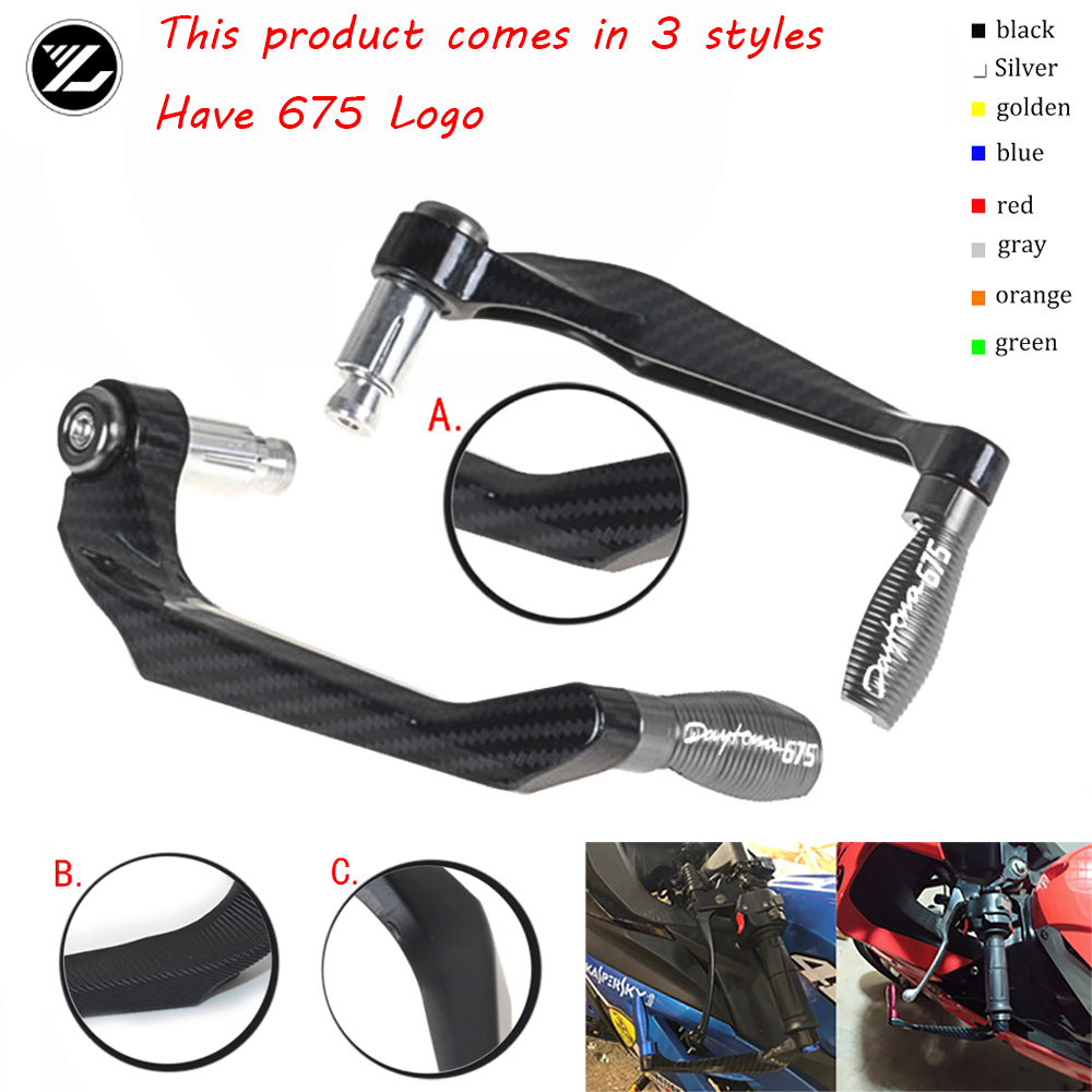 Motocycle Handlebar Handle grips Bar Ends Brake Clutch Levers Guard Protector For <font><b>Triumph</b></font> <font><b>DAYTONA</b></font> <font><b>675</b></font> <font><b>2008</b></font> 2009 2010 2011-2017 image