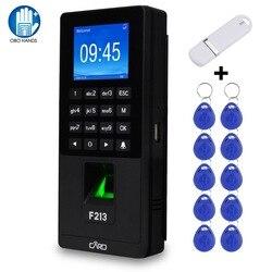 Биометрический контроль доступа отпечатков пальцев клавиатура Пароль RFID машина посещаемости времени поддержка TCP/IP Сеть USB работник регист...