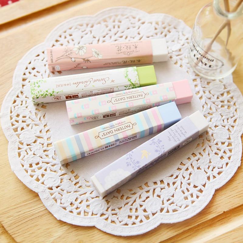 JIANWU 2pcs Korean Kawaii Erasers  Strip Creativity Eraser School Supplies Painting Supplies