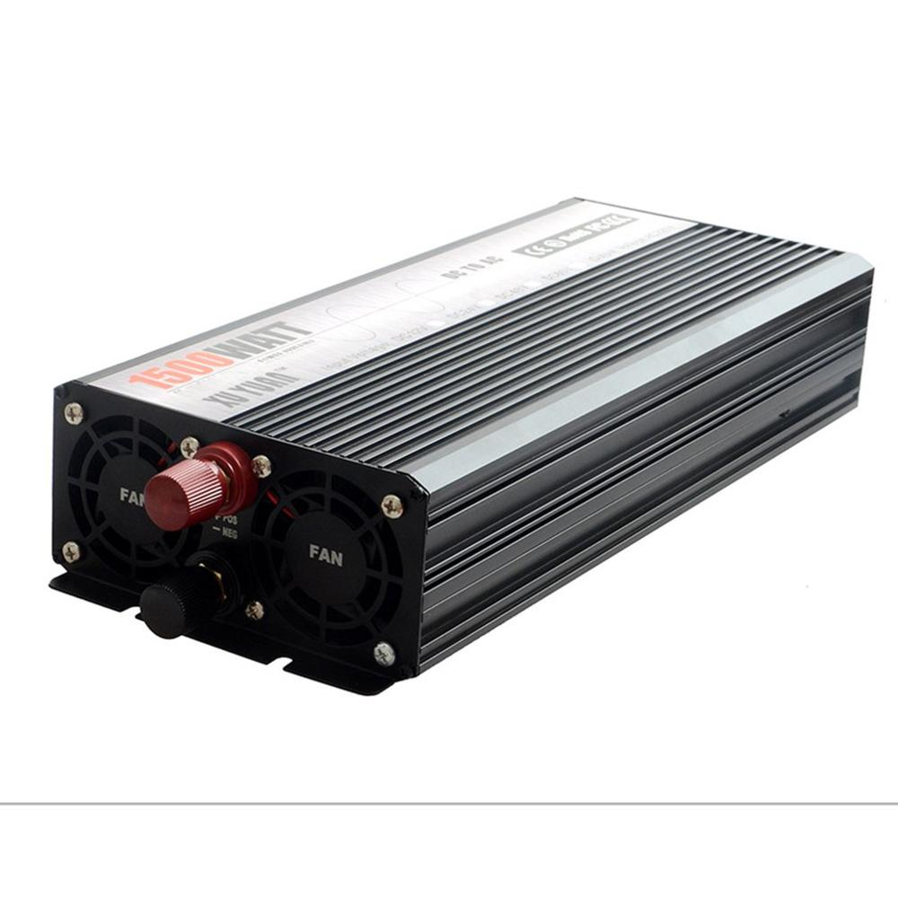Piek 5000W 12 V 220 V Auto Power Inverter Converter Charger Adapter Zuivere Sinus met EU Plug intelligente bescherming - 5