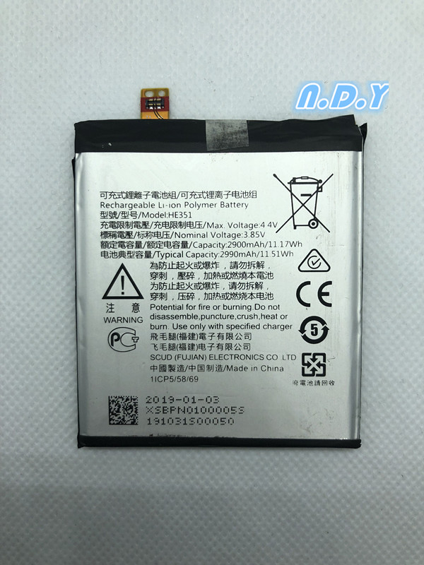 Original  HE351 2900mAh Battery  For  Nokia 3.1, TA-1049, TA-1057, TA-1063, TA-1070, TA-1074 Lithium Polymer Batteries