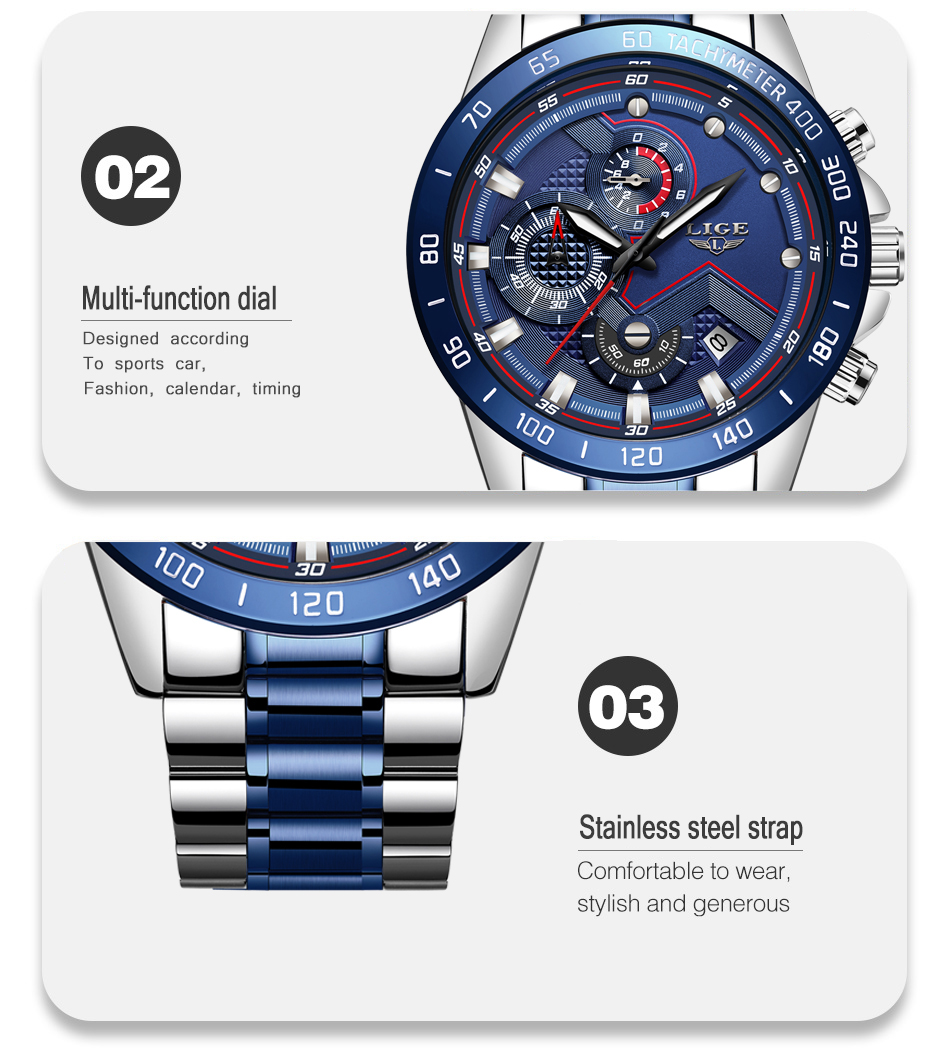 H159bb9b259bb401c80744bbd94d66e06a Relogio Masculino LIGE Hot Fashion Mens Watches Top Brand Luxury Wrist Watch Quartz Clock Blue Watch Men Waterproof Chronograph