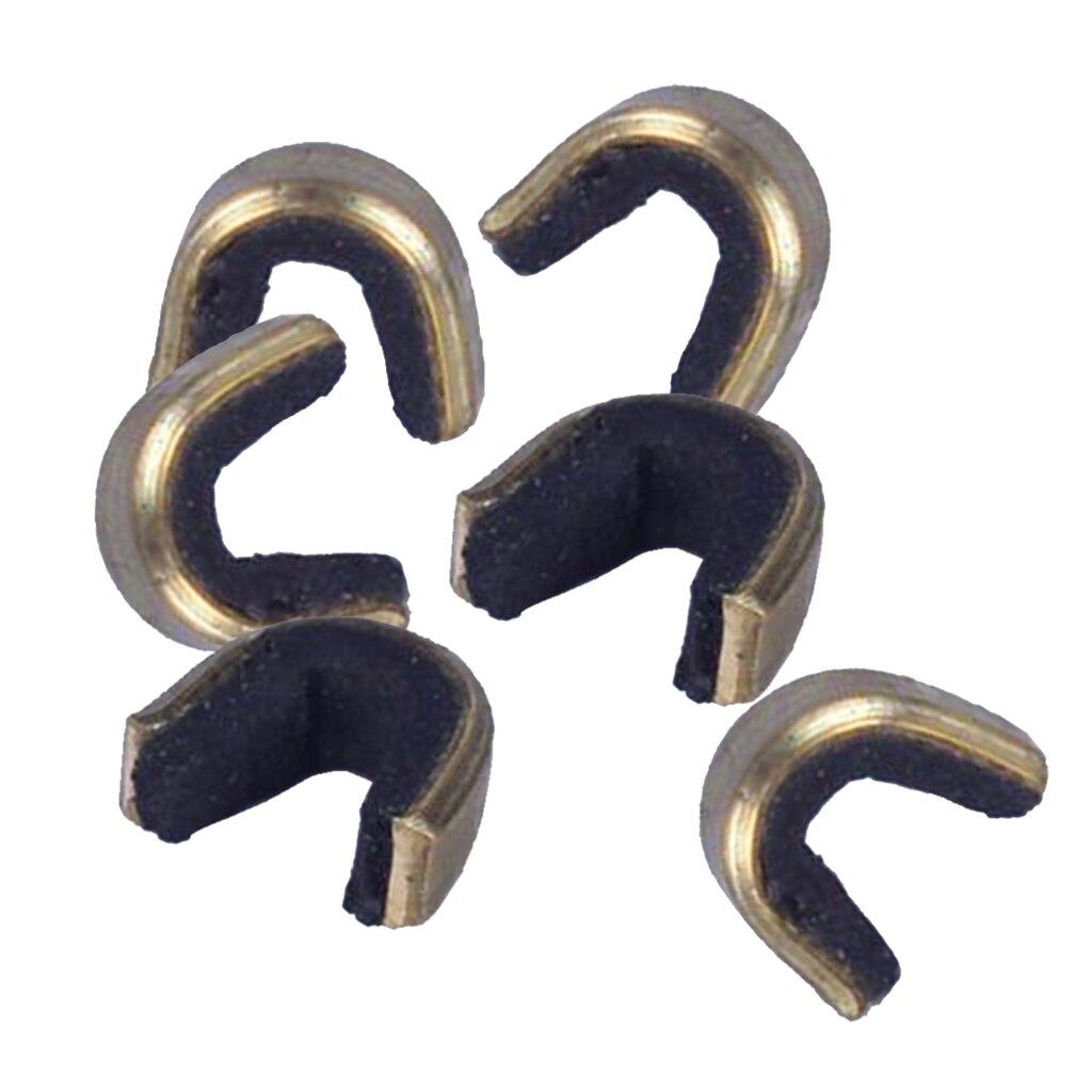 Arco de arco corda nocking pontos definir latão fivela clipe bate, 6 pacote