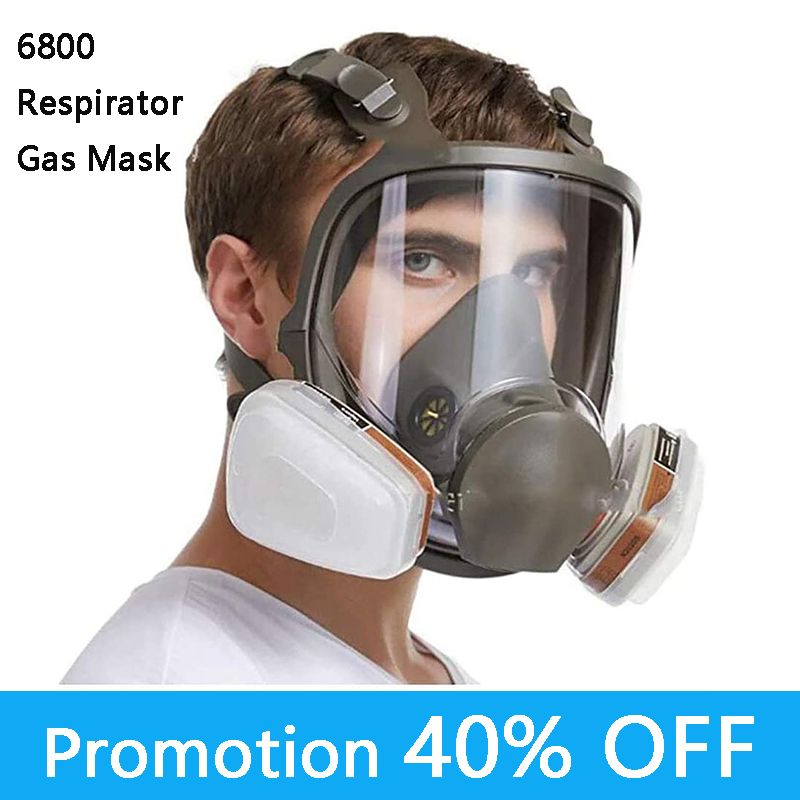 Protective 6800 Anti-Fog Dustproo Full Face Respirator Gas Mask Painting Spraying Gas masks Safety Work Formaldehyde protection