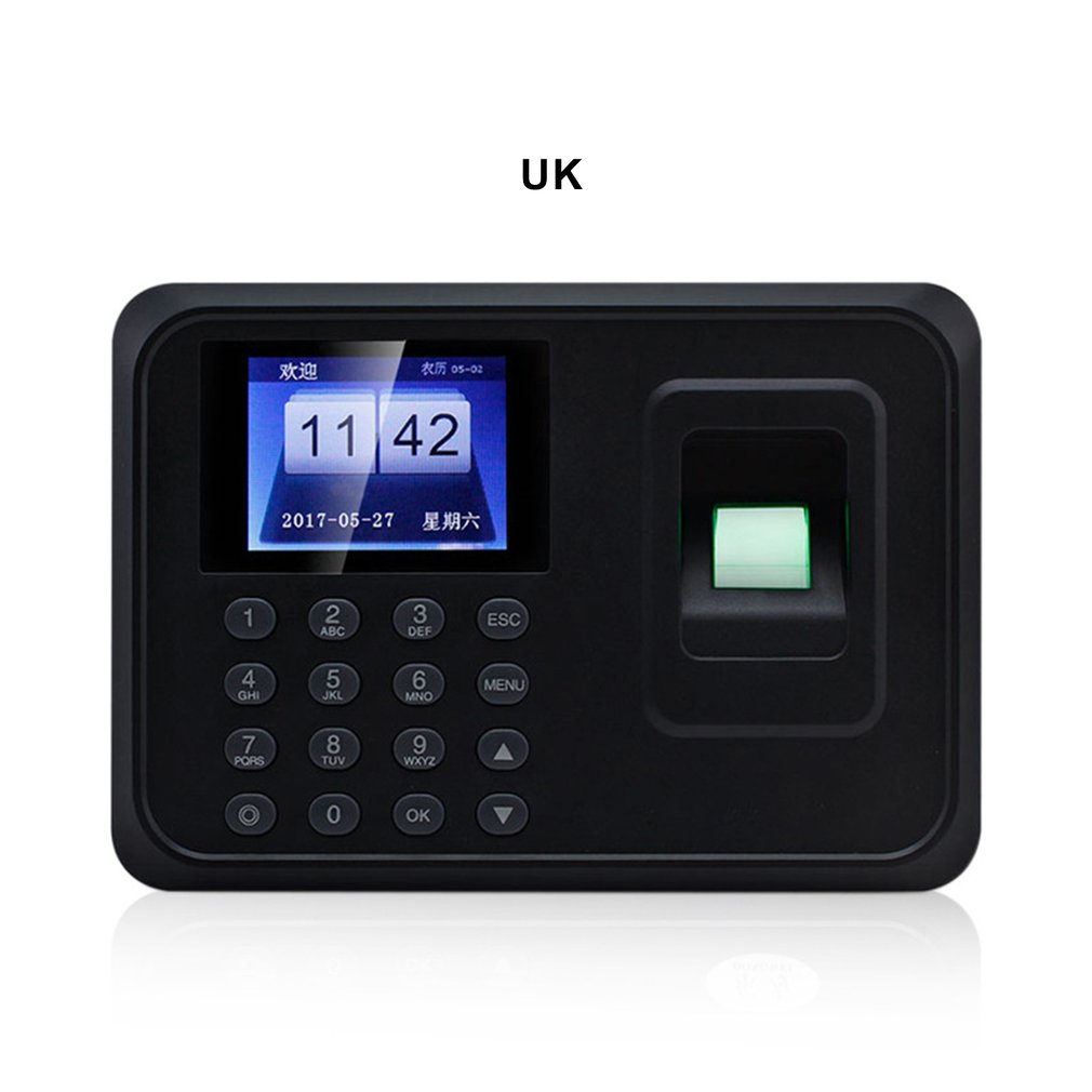 Multi-country Language Fingerprint Attendance Machine Attendance Punch Card Machine System Recorder Timing Employee Machine