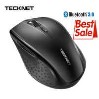 Ratón inalámbrico Bluetooth TeckNet 2,4g 2600/2000/1600/1200/800 DPI ratón inalámbrico bluetooth 3,0 para ordenador portátil PC ordenador