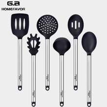 G.a HOMEFAVOR Kitchen Cooking Tools Kitchenware Cake Baking Tool Silicone Cookware Sets Food Grade Non-stick Home Aids 6 Pcs
