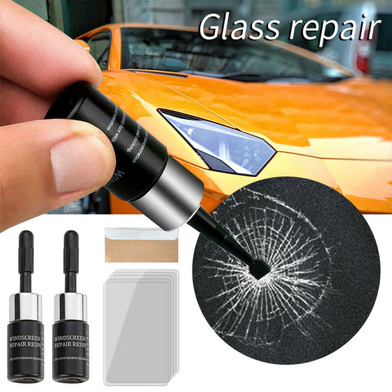 Auto Window Glass Crack Chip Repair Tool Kit Automotive Glass Nano Repair Fluid Vehicle Wash Maintenance Care