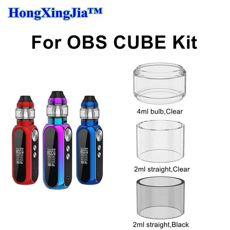 Pyrex Glass Tank Tube For OBS Cube Mod 80W Kit Glass 24mm VW Vape MTL RTA Draco M1 Mesh Coil 2ml/4ml Drip Tips