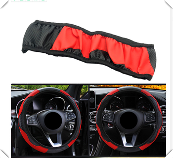 37-38CM car steering wheel cover auto without inner ring accessories for BMW all series F-series E46 E90 F09 1 2 3 4 5 6 7 X E image