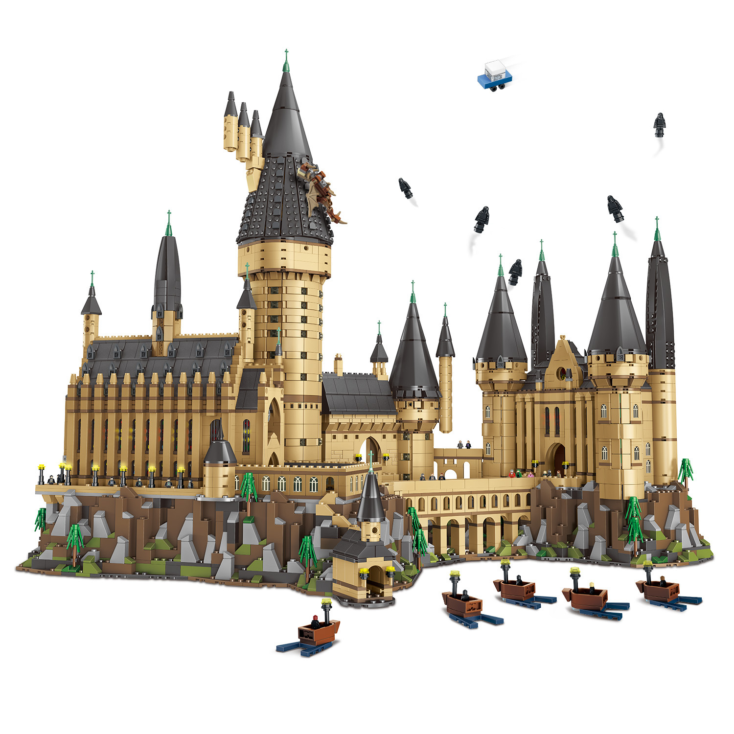 6120PCS Assemble Hogwarts Castle Bricks Wizarding Magical School Figures Splicing Building Blocks Toy Gifts for Kids and Adult