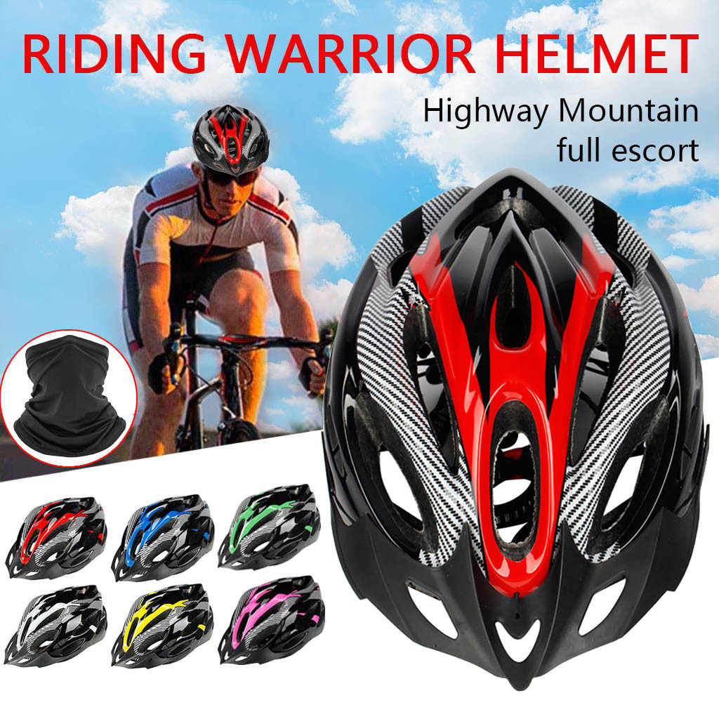 Unisex Helmet Sports Safety Integrated Road Mountain Bike Riding Outdoor
