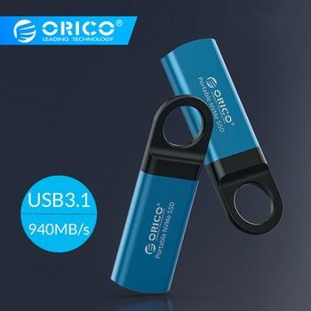 ORICO Mini External SSD M2 NVME Hard Drive 1TB 128GB 256GB 512GB NVME Mobile Portable SSD USB C 3.1 10Gbps Solid State Drive