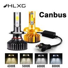 HlXG Новая Серия автомобильных светодиодных ламп для авто H4 H7 Led H1 H11 9005 HB3 Led 9006 Hb4 H8 6000K Ближний свет дальний свет диодные противотуманные фары дневные ходовые огни 12В 24В головной свет ЛЕД в машину
