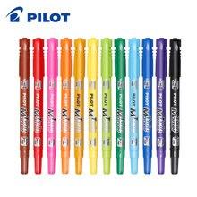12ชิ้น/เซ็ตPilot SCA TM CD Marker Twin Marker 2เคล็ดลับถาวรที่มีสีสันขายปลีกDouble Headผิวมันปากกาโปสเตอร์Graffitiเครื่องเขียน