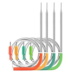 Image 4 - Inkbird Wi Fi בשר דיגיטלי מדחום IBBQ 4T מנגל מדחום 4 בדיקות 2000mAh סוללה נטענת עבור מטבח מעשן צלייה