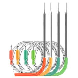 Image 4 - Inkbird wi fi肉デジタル温度計IBBQ 4Tバーベキュー温度計 4 プローブ 2000 3600mahの充電式バッテリーキッチン喫煙グリル