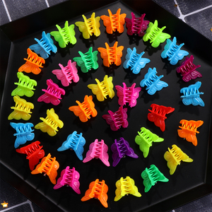 20 Pcs Butterfly Small Hair Clips Claw Baby Girls Cute Candy Color Hair Jaw Clip Children Hairpin Hair Accessories Wholesale