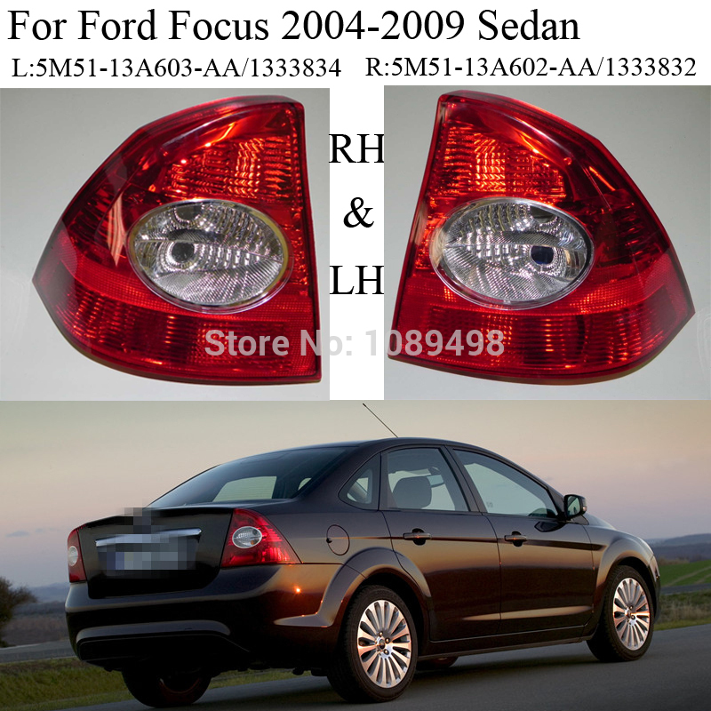2 Pcs/Pair RH and LH Rear Tail lights lamps <font><b>taillight</b></font> for <font><b>Ford</b></font> <font><b>Focus</b></font> Sedan 2 II 2004-2009 image