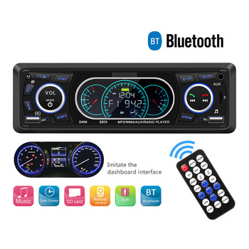 Universal 12V Bluetooth Car Radio Player Auto FM Stereo MP3 Music Player AUX Input Audio Hands-Free Call USB universal car music player 12v bluetooth car radio mp3 player vehicle stereo audio support fm usb sd aux with remote control