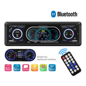 Universal 12V Bluetooth Car Radio Player Auto FM Stereo MP3 Music Player AUX Input Audio Hands-Free Call USB