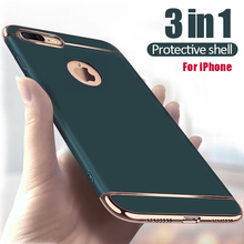 Luxury Hard Case for iPhone 11 12 Pro 5 5s SE Back Cover X Xs Max XR Removable 3 in 1 Fundas Case for iPhone 8 7 6 6s Plus Bag