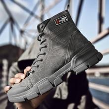 Brand Man Ankle Boots Desert *7256 Mens Autumn Work Luxury Men Outdoor Waterproof Sneakers