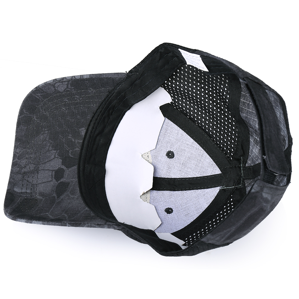 Skull Tactical Military Airsoft Cap Adjustable Breathable Sun Visor Trucker Hat Mesh Hunting Hiking Baseball Skeleton Snapback 30