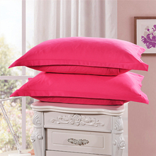 цена 10PCS Brand new 100% Queen Standard Soft Pillowcase Cover Square Pillow Cover Solid color pillowcase colorful pillow cover онлайн в 2017 году