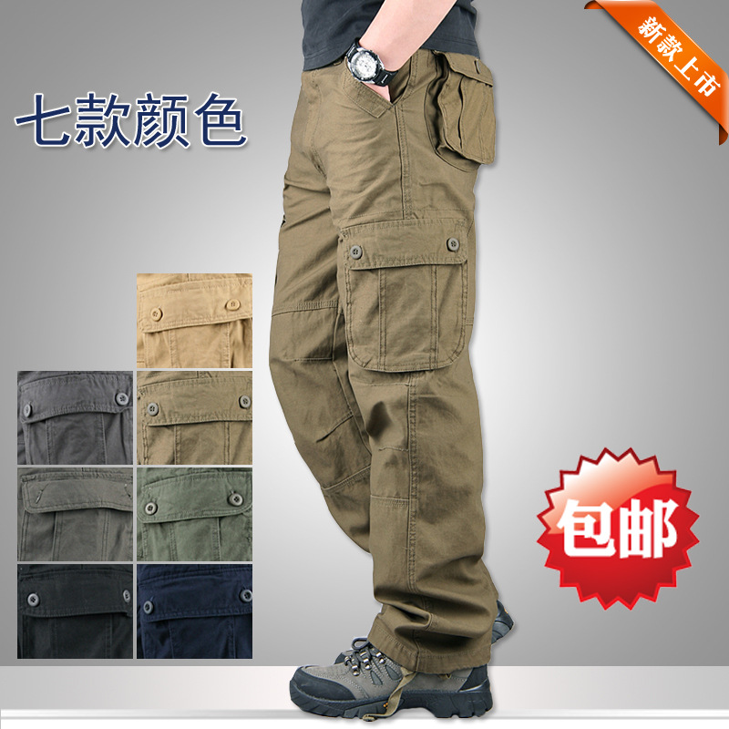 Outdoor Stereo Pocket Much Pocket Overalls Male Trousers Slacks Male Big Yards