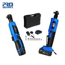 PROSTORMER-clé électrique à cliquet Rechargeable 12V, batterie Lithium, outil Portable à 90 degrés Charge rapide, clé de scène