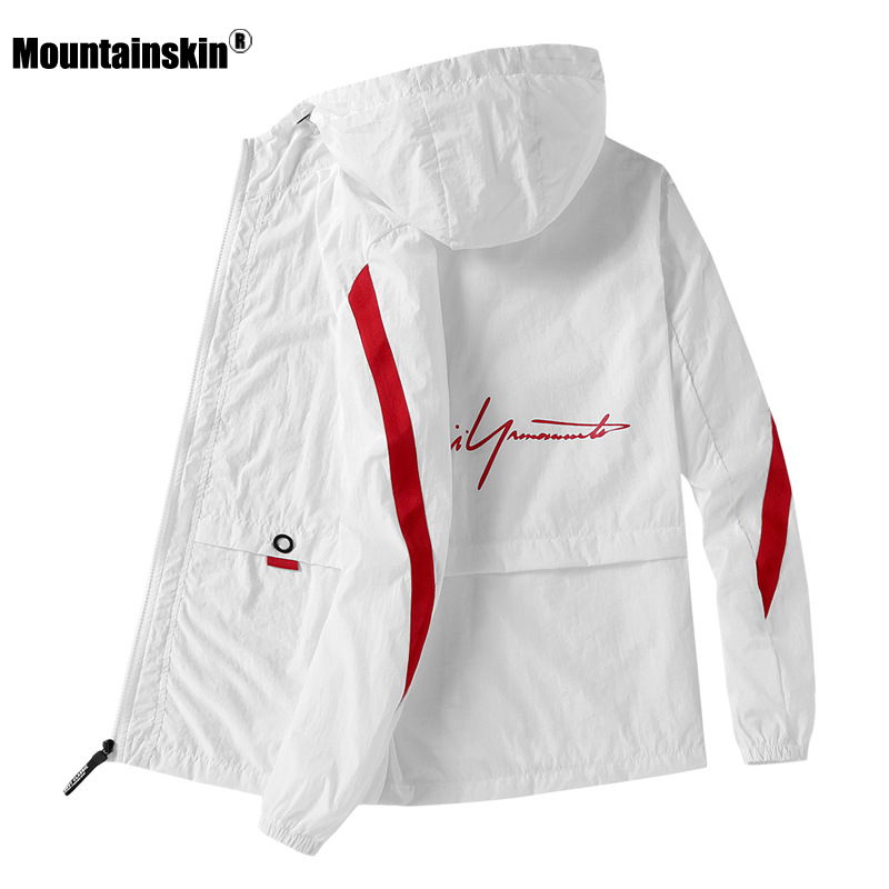 Mountainskin Mens Hooded Jacket Summer New Men's Sun Protection Thin Breathable Coat Casual Outdoor Sports Jackets Male SA915