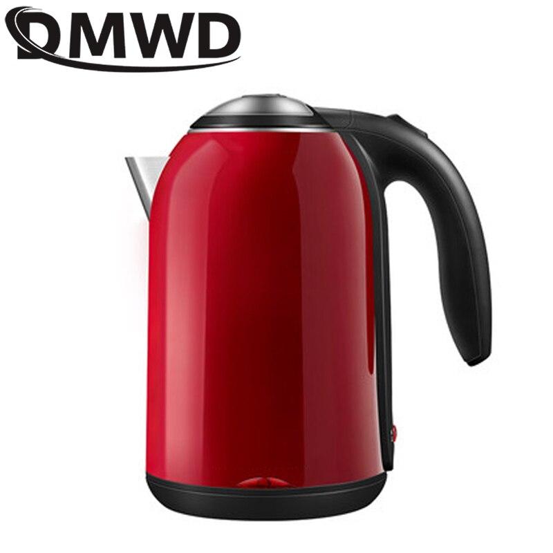 Электрический чайник DMWD, 1,7 л, чайник для горячей воды с быстрым нагревом, чайник из нержавеющей стали с теплоизоляцией, чайник для кипячения...