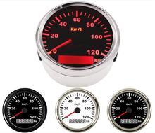 1 шт. 0-120 км/ч спидометры GPS Sus316L Безель водонепроницаемый измеритель скорости 85 мм автомобильный инструмент с антенной для авто лодка мотоци...