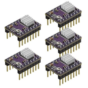 5Pcs 3D Printer Stepstick DRV8825 Stepper Motor Driver Reprap 4 Layer PCB Module For 3D Printer Replacement durable 3d printer motherboard gt2560 drv8825 driver lcd2004 kit 3d printer parts