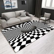 Nordic стерео геометрический Коврик 3d Черный и белый видения