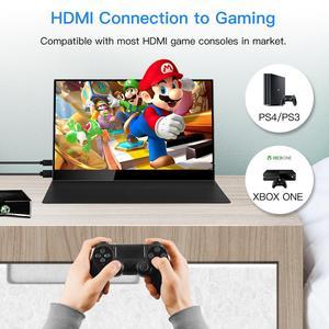 """Image 4 - Eyoyo 15.6 """"IPS 터치 모니터 1920x1080 FHD 휴대용 HDMI 유형 C 게임 모니터 HDR 디스플레이 노트북 PC 전화에 대 한 두 번째 화면"""