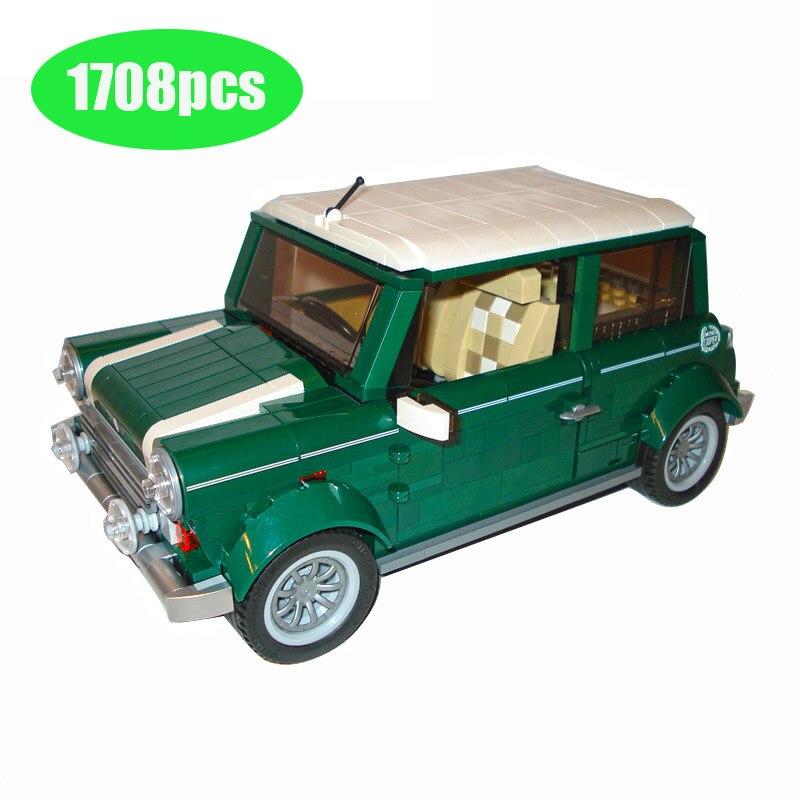 10568 1079pcs Technic Mini Cooper Building Blocks Compatible lepining 10242 Funny Educational Brick Toys for Children 10271