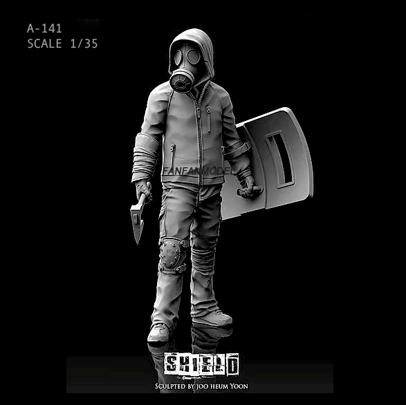1/35 55MM Resin Figure Kits Marcher Resin Soldier  Self-assembled A-141