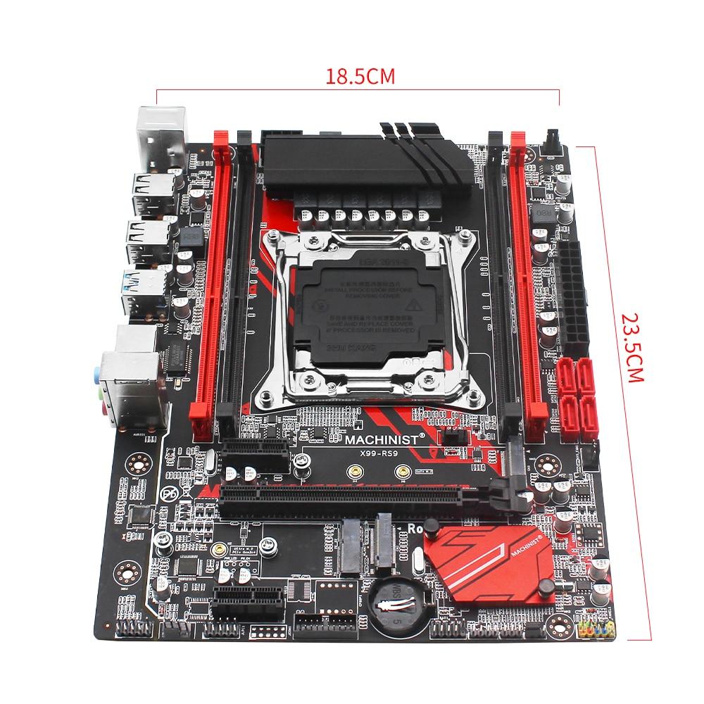 MACHINIST X99 LGA 2011-3 motherboard SATA M.2 PCI-E M.2 slot support Xeon E5 V3 V4 processor DDR4 ECC RAM X99-RS9 mainboard 5
