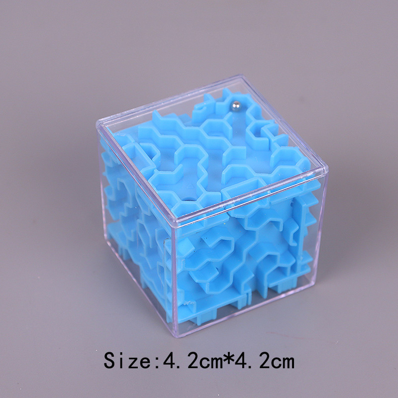 TOBEFU 3D Maze Magic Cube Transparent Six-sided Puzzle Speed Cube Rolling Ball Game Cubos Maze Toys for Children Educational 17