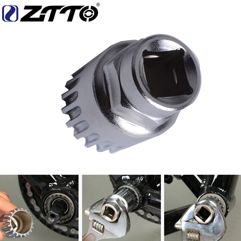 ZTTO Bottom Bracket Socket Tool For Cartridge ISIS Bike BB B.B. For MTB Mountain Bike Road Bicycle Accessories Bottom Bracket