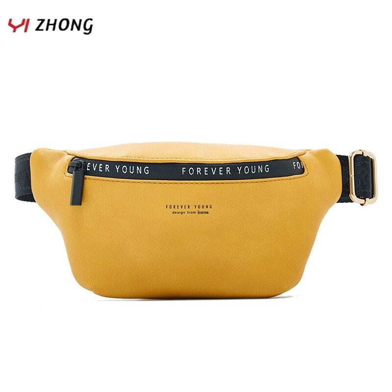 Bolsa da Cintura Bolsas para as Mulheres Bolsa de Viagem Bolsa de Peito de Banana Yizhong Couro Unissex Fanny Pacote Grande Capacidade Crossbody Cinto Moda