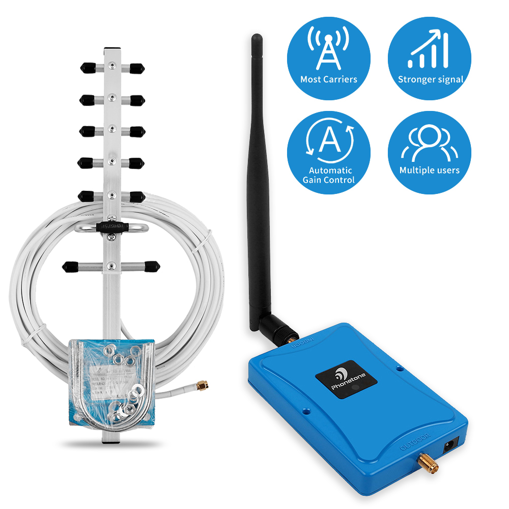 4g Lte Signal Booster Dcs 1800 Mhz Repeater Gsm 4g Mobile Signal Repeater 1800mhz Cellular Signal Amplifier Band 3 Yagi Antennas