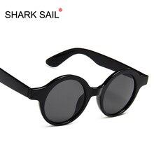 SHARK SAIL New Round Frame Sunglasses Women Retro Brand Designer Black Red Leopard Sun Glasses Female Fashion Outdoor Driving
