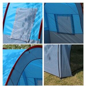 Image 5 - אוהלי קמפינג חיצוני גדול קמפינג אוהל עמיד למים בד פיברגלס 5 8 אנשים משפחה מנהרת 10 אדם אוהלי ציוד חיצוני