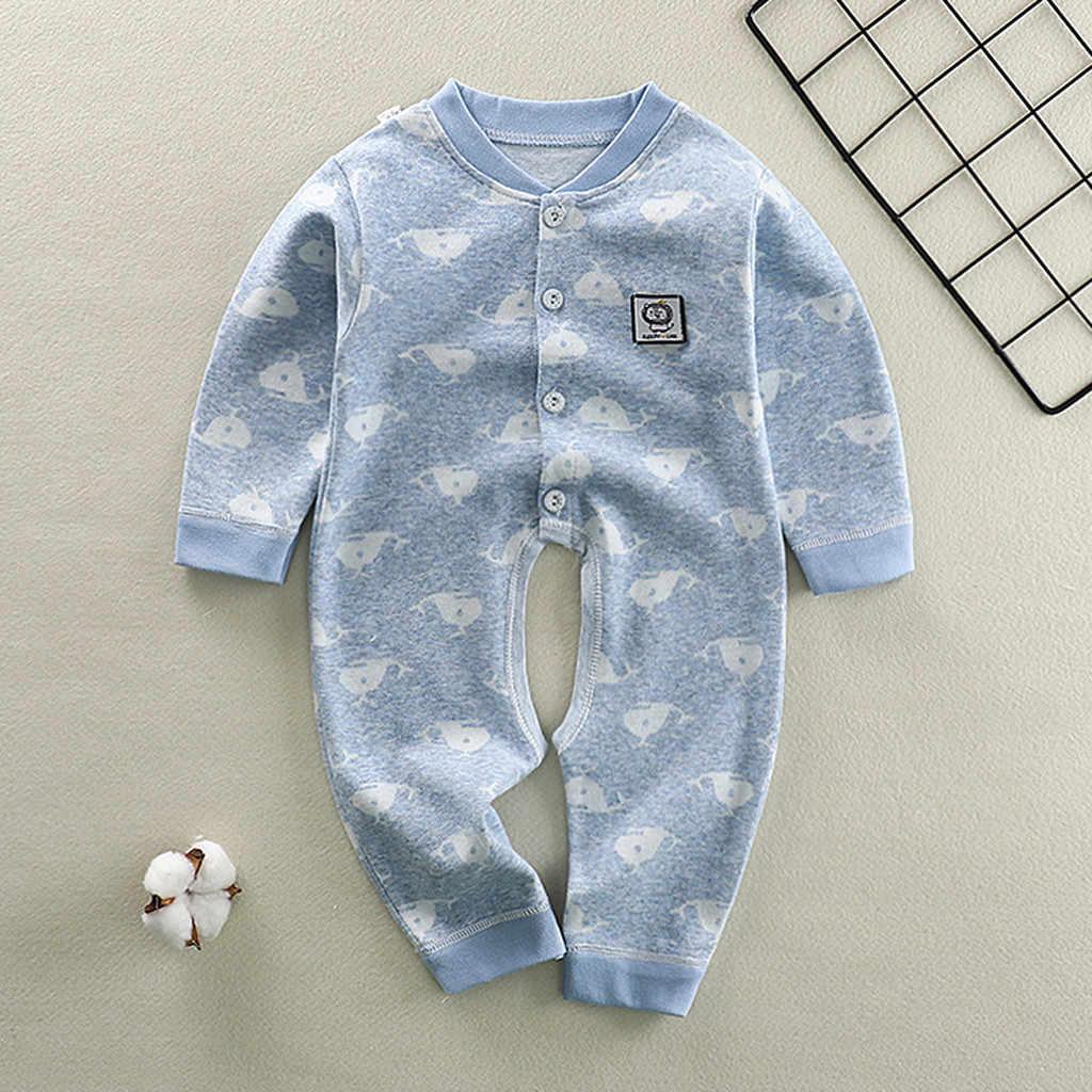 Jumpsuit For Newborns Autumn Infant Baby Girls Boys Long Sleeve Cute Cartoon Romper Fashion Stylish Jumpsuit Colthes Set 2019