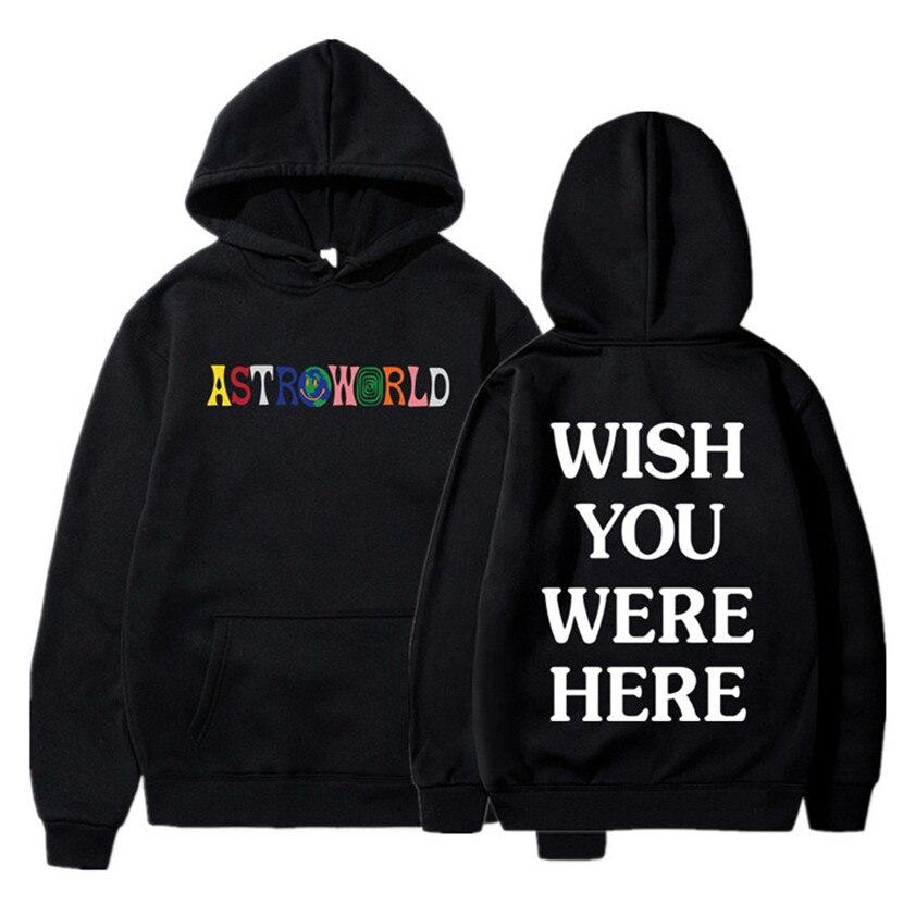 2020 NEW Men Hoodies Travis Scott Astroworld WISH YOU WERE HERE Sweatshirt Men Fashion Letter Print Hoodie Men And Woman Pullove