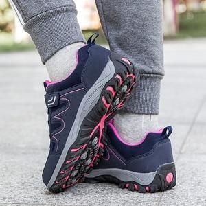 Image 4 - PINSEN 2020 yeni sonbahar kadın ayakkabı yüksek kaliteli açık yürüyüş rahat ayakkabılar kadın rahat dantel up daireler anne ayakkabısı